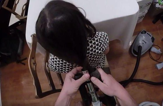ВИДЕО: Експрес фризура, ала тато....