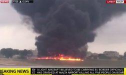 ВИДЕО: Најмалку петмина загинати при уривање на авион