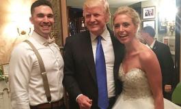 ВИДЕО: Трамп упадна на туѓа свадба