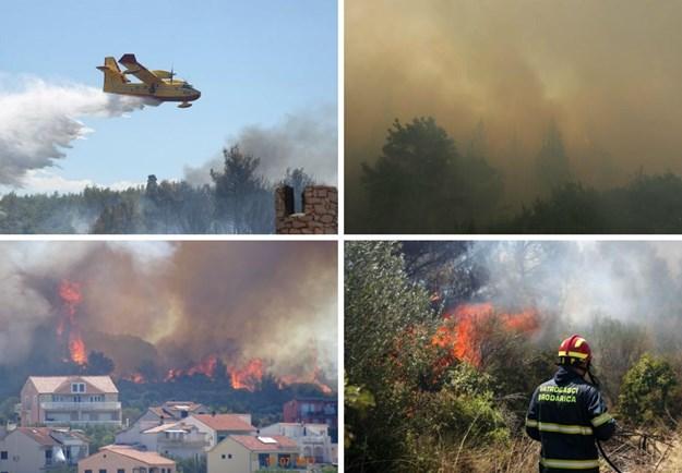 Шумски пожари беснеат на јадранското крајбрежје во Хрватска и Црна Гора