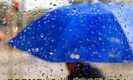 Облачно време, со локален дожд и снег