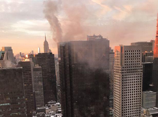 ВИДЕО: СЕ ЗАПАЛИ КУЛАТА ТРАМП ВО ЊУЈОРК