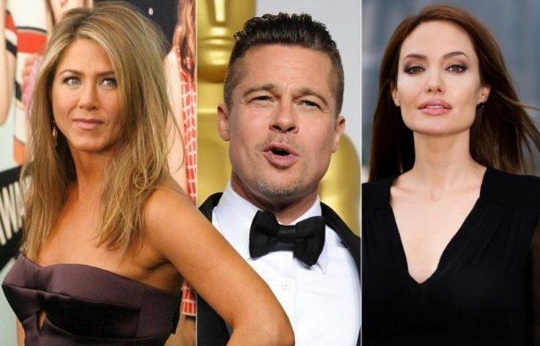 Бред Пит, Џоли и Анистон заедно…